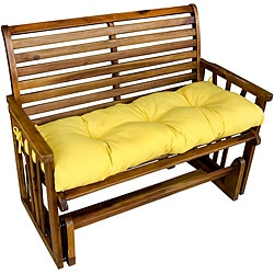 @Overstock - This colorful cushion is a bright and charming addition to your outdoor furniture.  This comfortable cushion is overstuffed with soft polyester fill for comfort, strength, and durability.  http://www.overstock.com/Home-Garden/Suncrest-Yellow-Outdoor-Bench-Cushion/6021457/product.html?CID=214117 $33.49