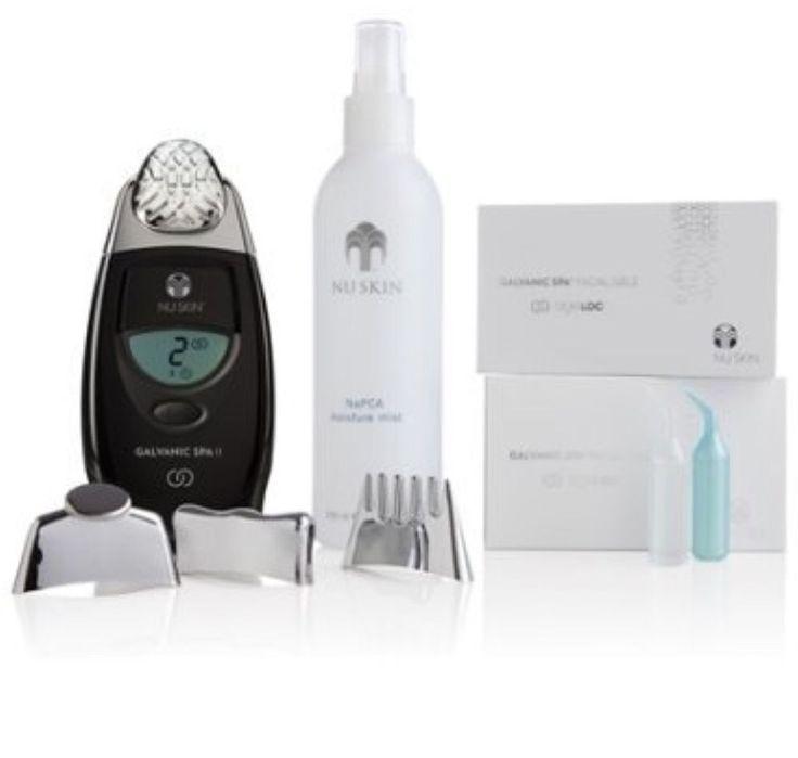 nu skin galvanic spa II face machine pack