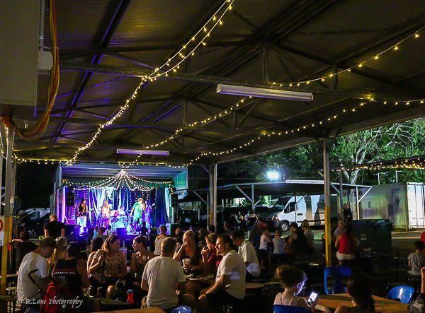 L4M2AS3 2) A local outdoor night event. Mt Gravatt Marketta. (Scene setter/wide shot) 1/20s F4.5. FL22mm. ISO 10000.