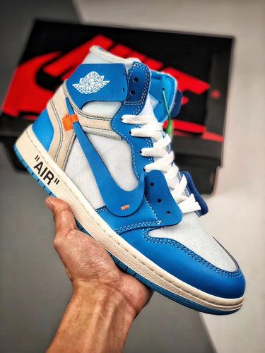 "big sale f70ca 40e64 NIKE Air Jordan 1 x Off White AJ1 ""UNC"" 