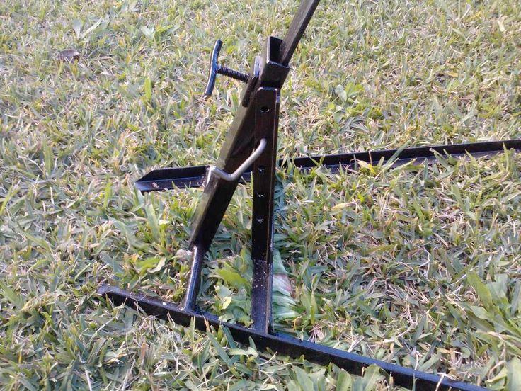 Construccion asador cruz , regulable y desarrmable , con o sin pie