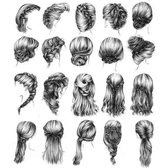 Idées de coiffures cheveux longs
