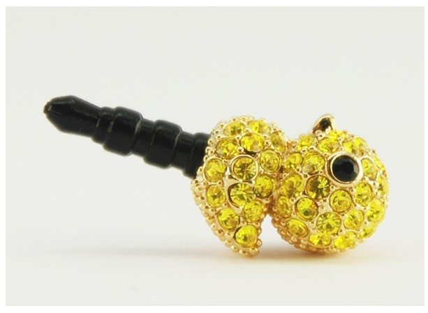 Yellow cubic decorated cute chick Phone Ear Cap. Price $19.99  / 노랑병아리 폰캡