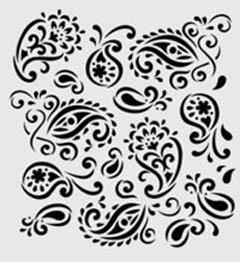 FolkArt ® Handmade Charlotte™ Stencils - Paisley Delight