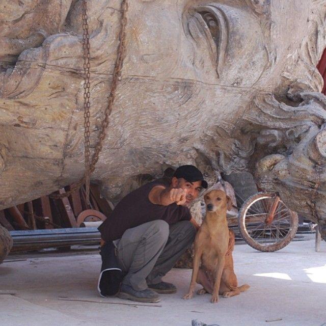 #javiermarinescultor, #javiermarin, #terrenobaldioarte, #escultura, #sculpture, #art, #escultor, #sculptor, #perro, #dog, #cabezavainilla
