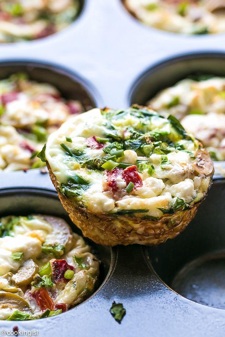 Mediterranean Egg White Breakfast Cups Recipe