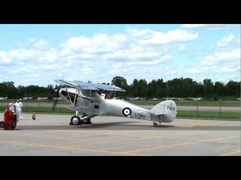 Running up the Hawker Hind at the Canada Aviation and Space Museum