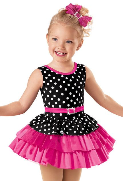 Tiered Dot Satin Party Dress -Weissman Costumes