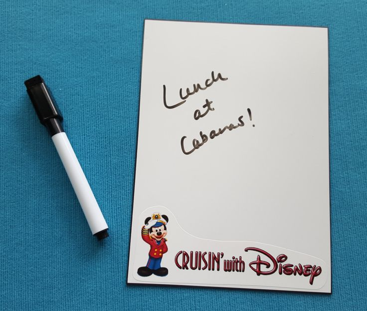 Disney cruise dcl white board dry erase board door for Worst fish extender gifts