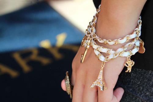 Paris Eiffel Tower charm <3 love this bracelet