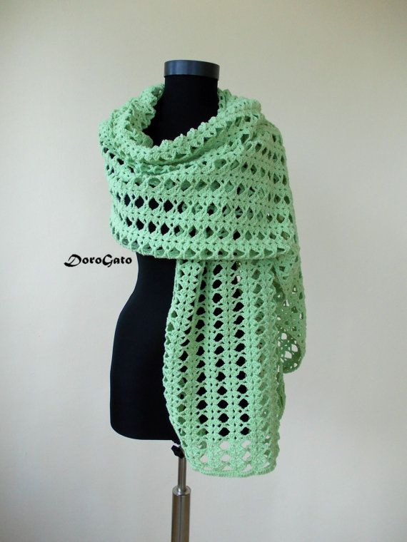 Gereen Lace shawl Crochet lace shawl wraps shawls by DoroGato