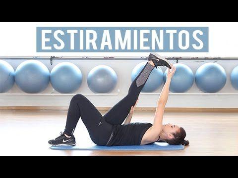 M Estiramientos de espalda, glúteos y isquiotibiales - YouTube