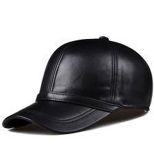 HL091 para hombres Cuero Genuino Gorro Gorra de Béisbol Nuevo Sombrero de Cuero Militar Caps