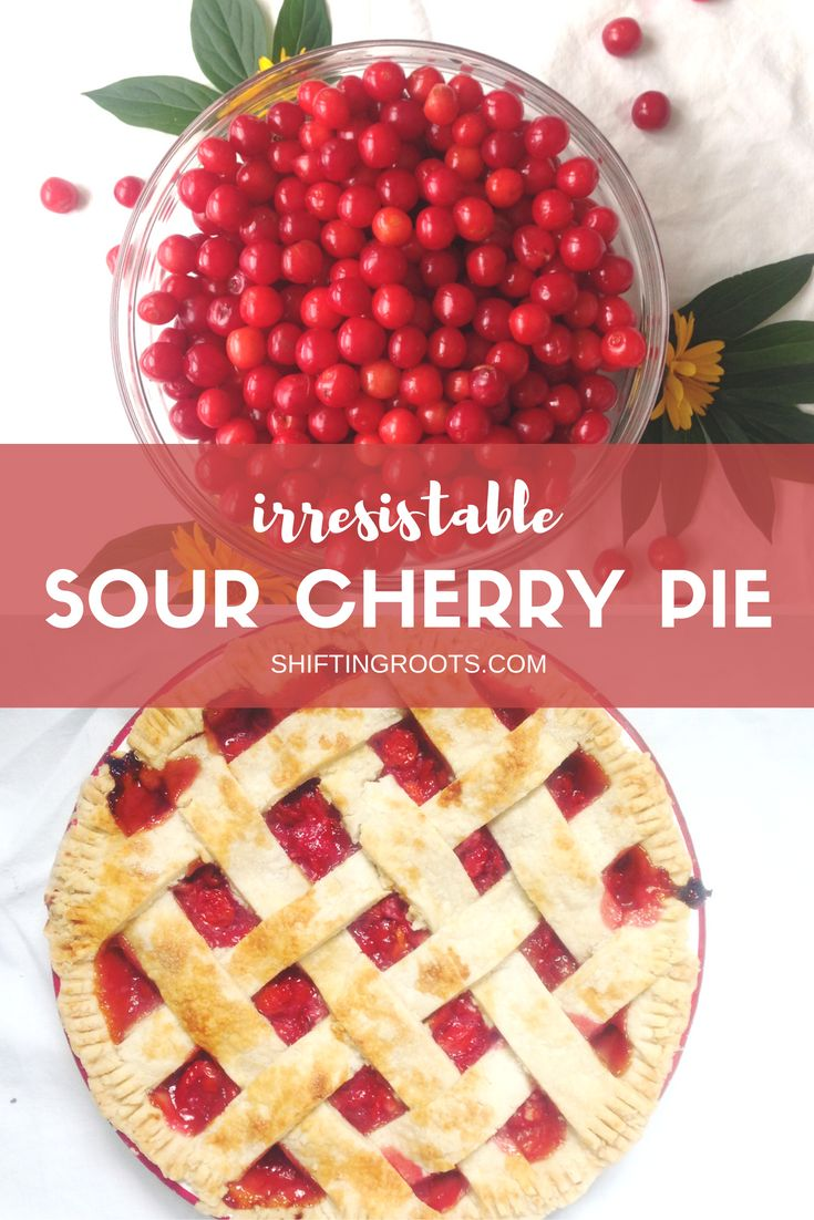 Sour cherries only come once a year and are so delicious.  Savour them with this easy to make pie recipe.