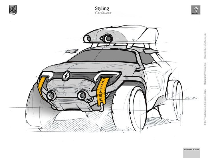 Renault for traveling around Russia (2012) on Behance