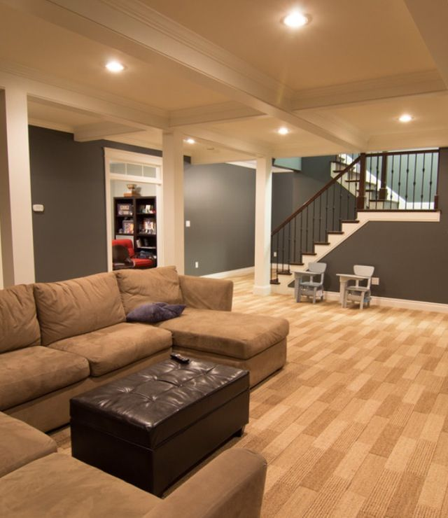 Basement ideas - love the windows above the doors!