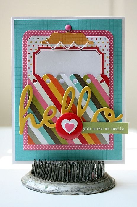 A Simple Stories Snap Hello card by Shellye McDaniel.