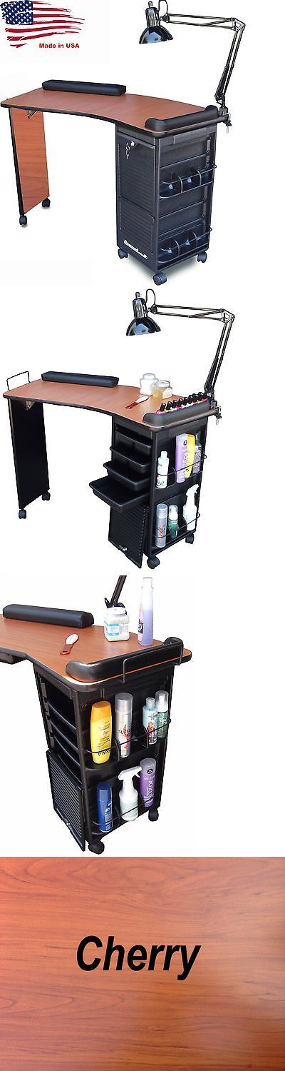 Other Nail Care: Manicure Nail Table K600r Cherry Lam. Top Lockable Cart *Special Item Sale* BUY IT NOW ONLY: $198.98