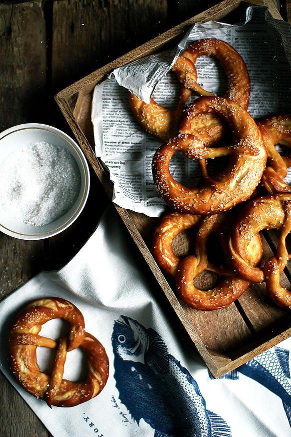 Mouthwatering pretzel photo