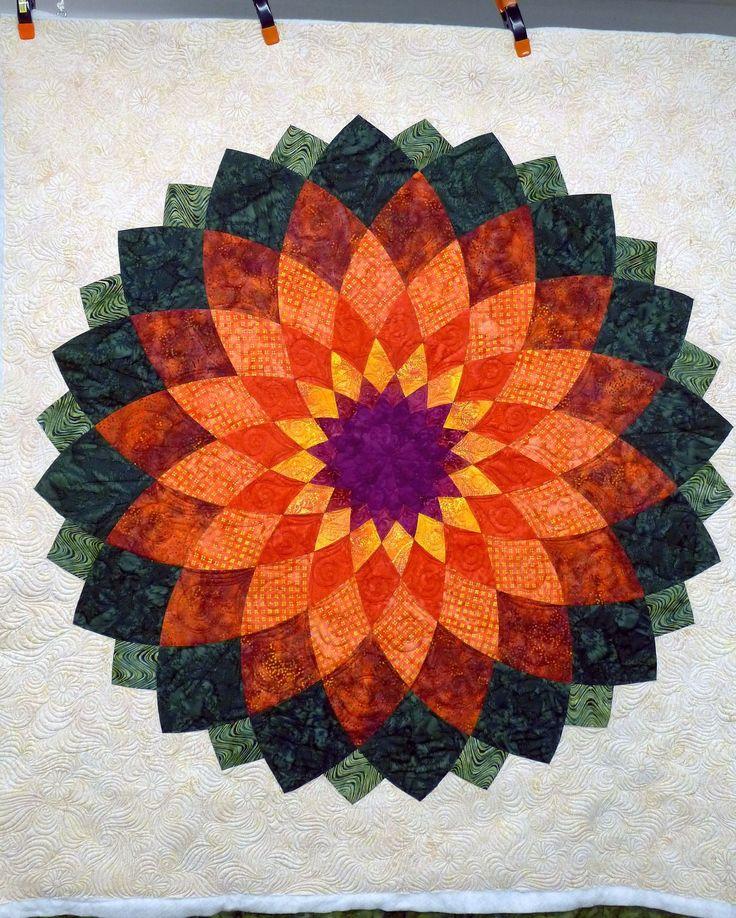 63 best dahlia images on Pinterest | Patterns, Mandalas and Books : dahlia quilts - Adamdwight.com