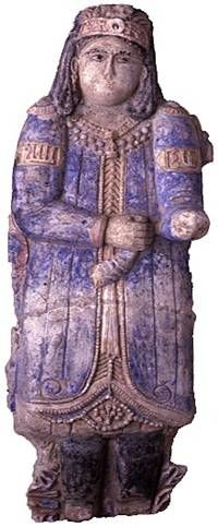 Polychrome-painted stucco relief of a Turkish official, early 7th/13th century