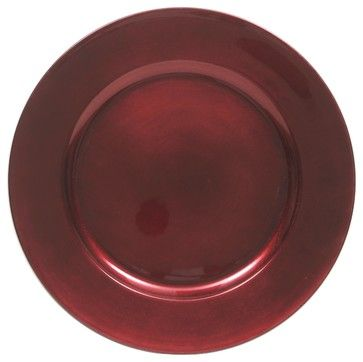 ChargeIt! by Jay Red Charger Plates (Set of 4) contemporary chargers