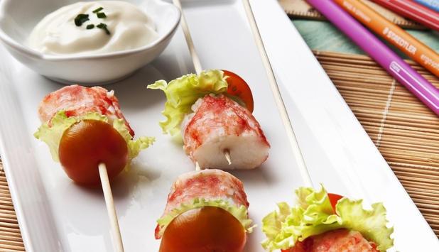 Brocheta de Cangrejo Rojo Real Noruego.  Si quieres ser la sensación de la próxima barbacoa, apunta esta receta.