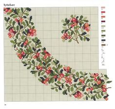 στρογγυλά μοτίφ για κεντητά τραπεζομάντηλα/ round motifs for cross stitch tablecloths