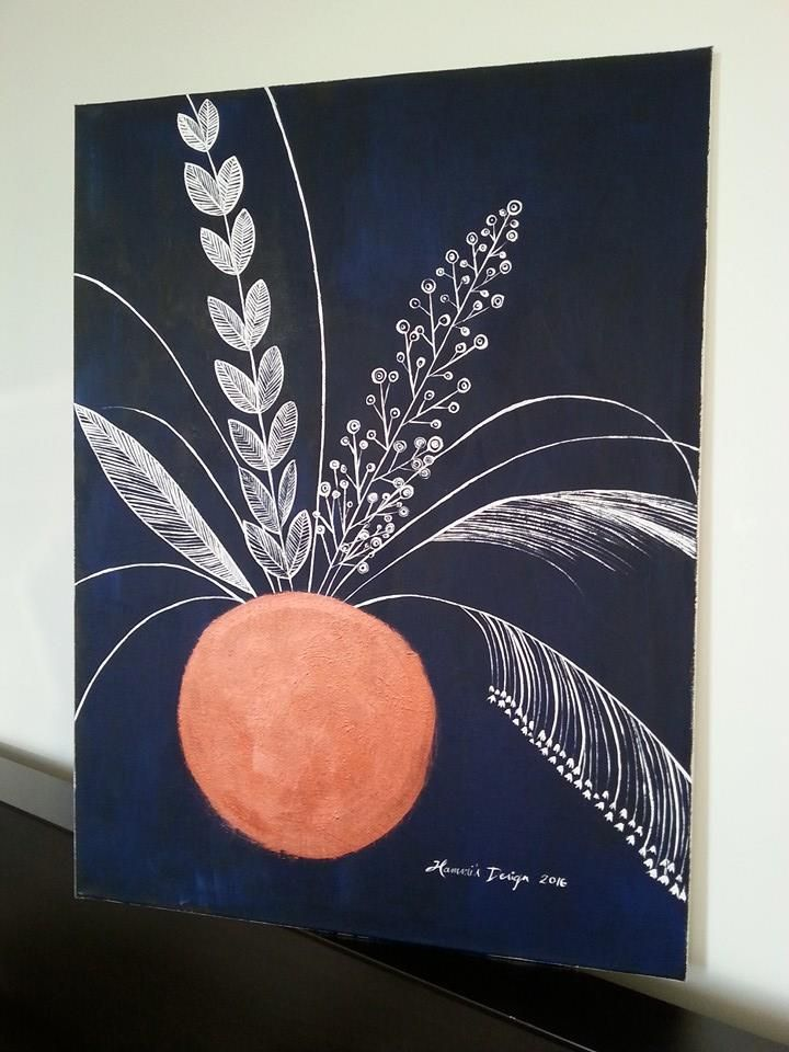 Copper. Acrylic painting by Hammi´s Design.