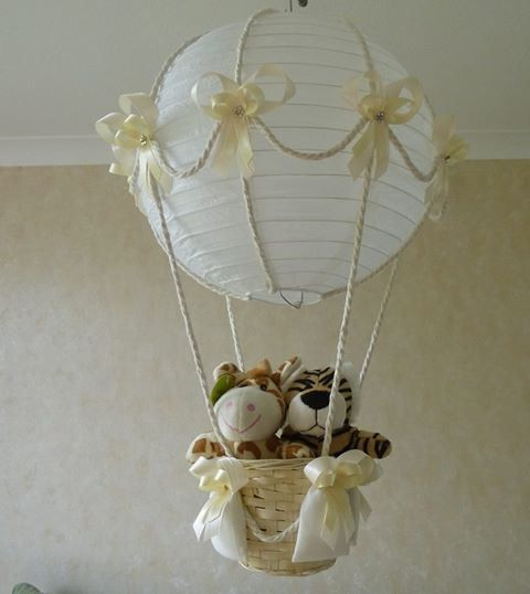 Hot Air Balloon Nursery Lamp Design Idea