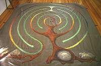 Portable Labyrinths -- Tree labyrinth on sailcloth