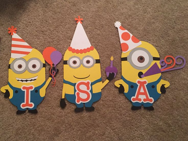 Minion birthday banner