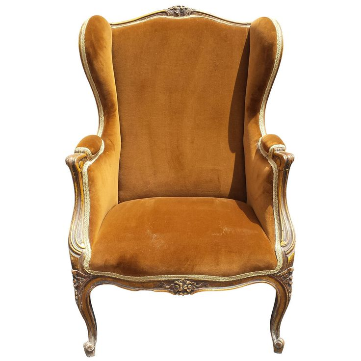 French Chair, French Louis XV Style Bergere Armchair   From a unique collection of antique and modern armchairs at https://www.1stdibs.com/furniture/seating/armchairs/