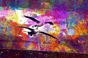 "New artwork for sale! - "" Albatros Birds Aquatic Landscape  by PixBreak Art "" - http://ift.tt/2tgR0dn"