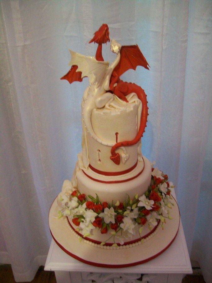 Embracing Dragons Wedding Cake Wedding Dragon Wedding Cake