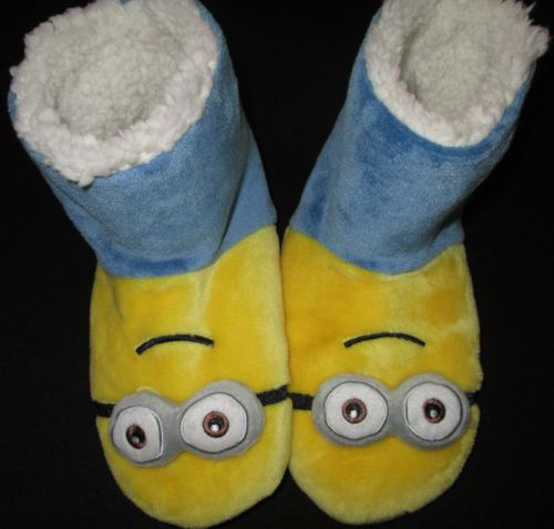 Kids-Boots-Slippers-Girls-Boys-MINIONS-Despicable-Me-Warm-Childrens-Sz-13-3-NEW