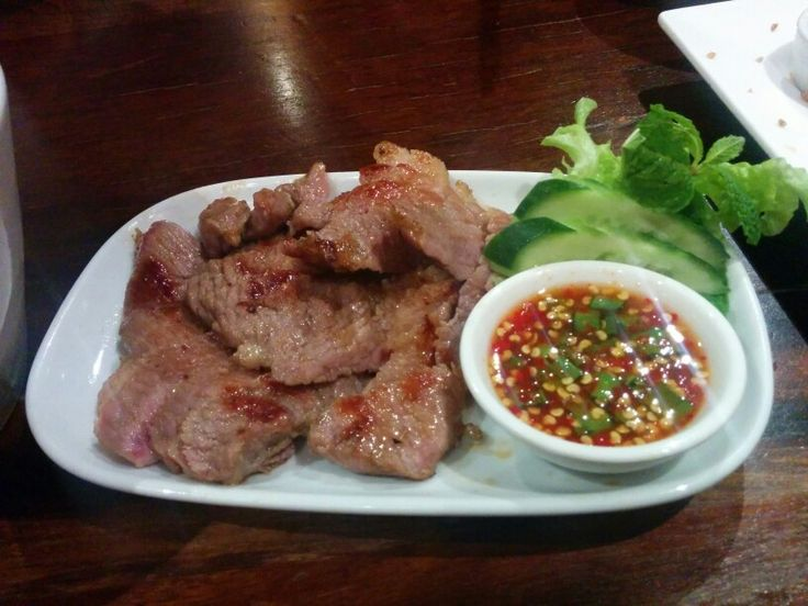 Grilled beef (tiger tears) - A: 1 B: 2
