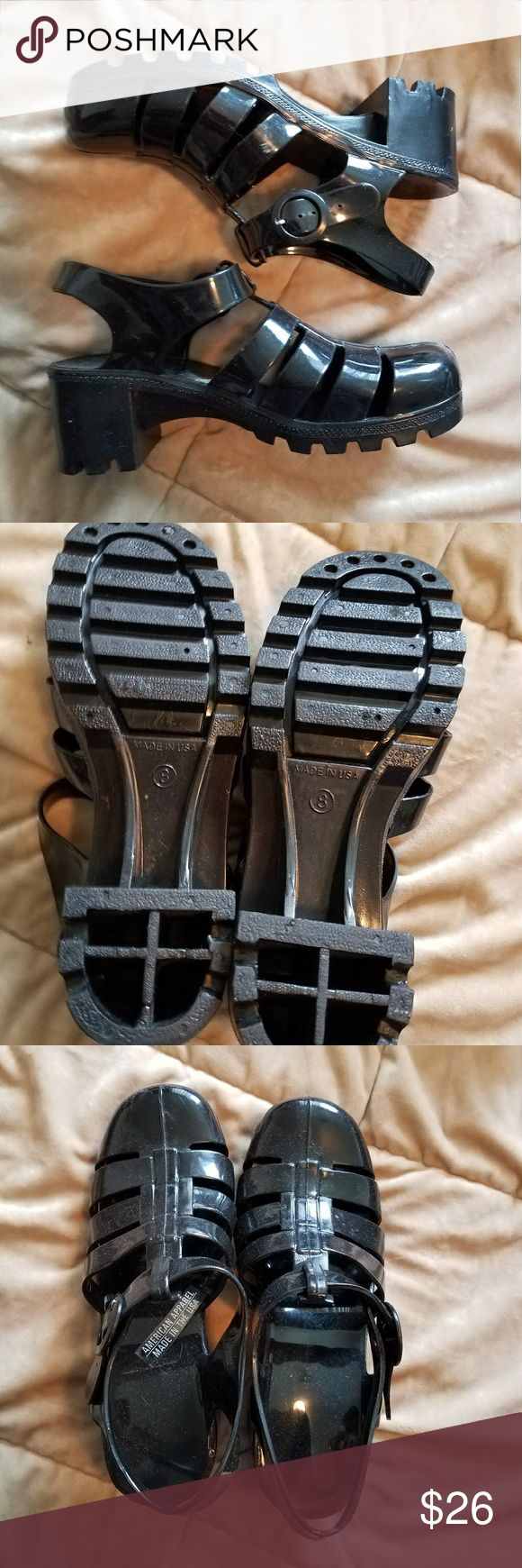 Black jelly sandals american apparel - American Apparel Jelly Shoes American Apparel Jelly Shoes These Jellies Are So Cute And Surprisingly