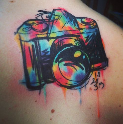 CAVAN INFANTE Clarksville, Tennessee Cavan. Beautiful style and colours. #tattoos #camera