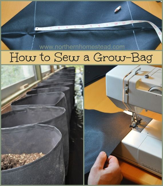 How to Sew a Grow Bag - You can buy ready made Grow Bags or make your own. Since it is so simple, and we wanted lots of them, we went for the DIY version. See how you can sew your own grow bags.