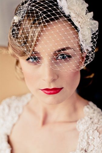 i like the hair in the front, not too pulled away from the head (bird cage veil? maybe!) #weddings
