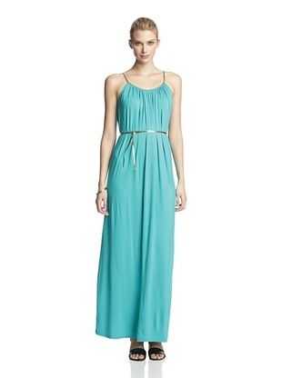 Tiana B Women's Maxi Dress with Braided Straps (Jade)