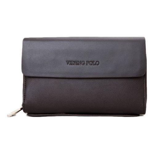 Genuine Leather Wallet for Men, Polo Videng