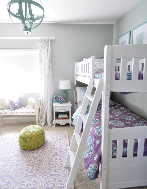 These colors go perfect together for girls room!