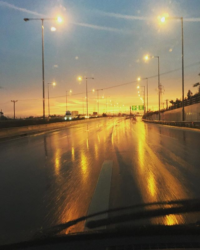 The road will get you there #sunset #skyporn #skg #evening #wet #roadtrip