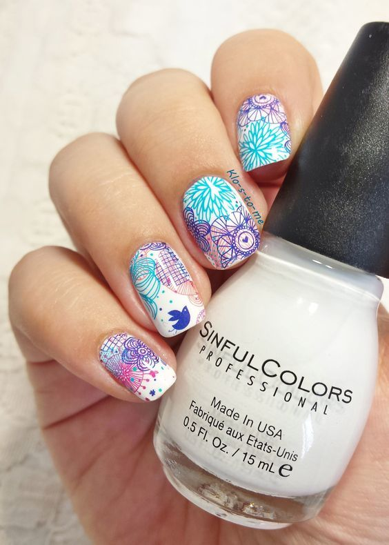 Graphic Flowers– These water decals are very different than the others I've received from Born Pretty Store.I love their modern design. They are printed on a transparent base so we can...