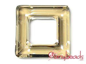 Golden Shadow - Austrian Swarovski Crystal Elements 4439 Square Pendant 20mm