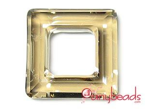 Golden Shadow - Austrian Swarovski Crystal Elements 4439 Square Pendant 20mm