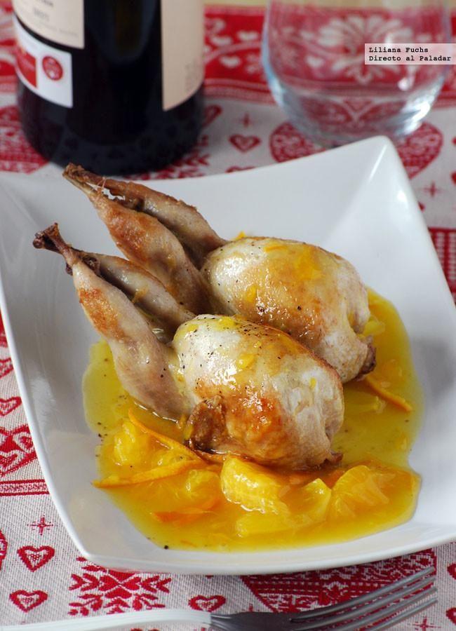 Receta de codornices en salsa de mandarina y miel. Con fotos paso a paso, consejos y sugerencias de degustación. Recetas de Navidad. Recetas de carne de ave