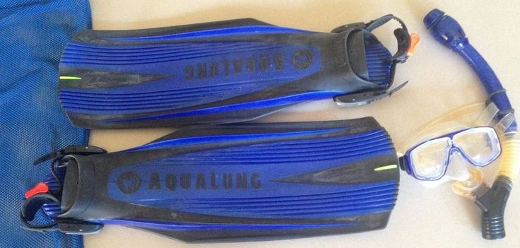Aqualung Blades 2 Scuba Fins Regular Impulse Dry Snorkel Body Glove Mask Bag #BodyGlove